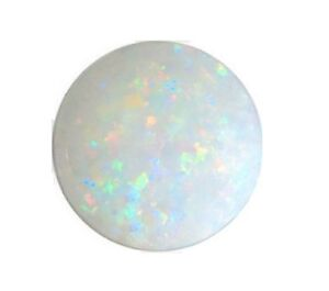 Natural-Opal-White-Flashes-of-Colour-2mm-Round-Cabochon-Gem-Gemstone
