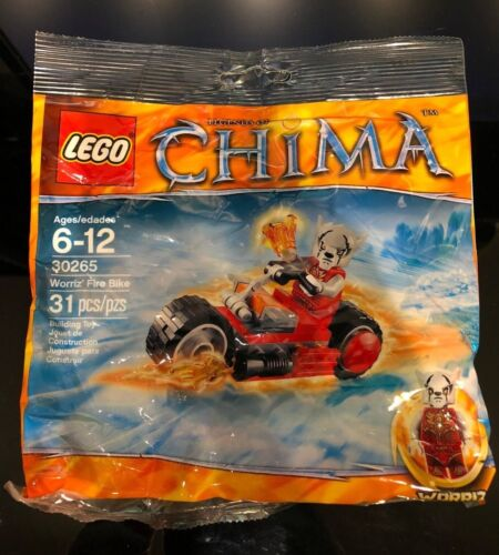 LEGO CHIMA 30265 - WORRIZ' FIRE BIKE - POLYBAG SEALED! RETIRED! RARE!!