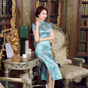 Luxurious-Butterflies-Flowers-Blue-Chinese-Long-Dress-Cheongsam-Qipao-lcdress13