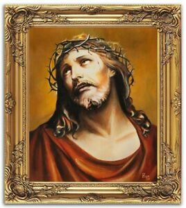 Religion-Jesus-Christ-Handmade-Oil-Painting-Picture-Oil-Frame-Pictures-G02165