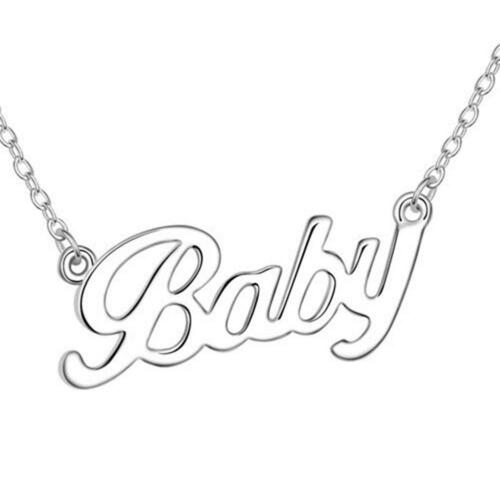 Funky Vintage Style Baby Word Necklace Cute Sweet Boho Chic Fun Festival Gifts