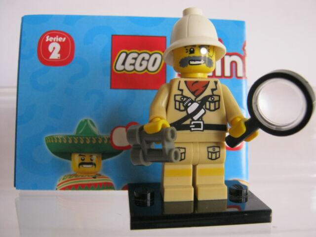 LEGO 8684 Minifiguren Serie 2 / Nr. 7 Forscher - Unbespielt ..10g