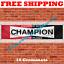 Champion Spark Plugs Banner Flag 2X8ft Garage Shop Man Cave Large Banner