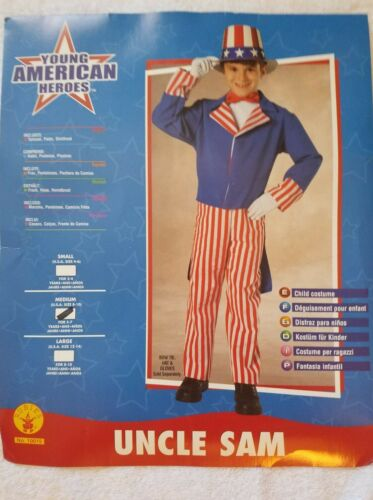 Details about  /Rubies Uncle Sam US America Freedom Child Boys Patriotic Halloween Costume 11259