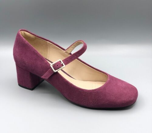 chinaberry Court Suede Heels Plum D Smart 5 Pop Uk Ladies Clarks New w4OqfvCn