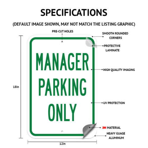 """Guest Parking Only Sign 12/"""" x 18/"""" Heavy Gauge Aluminum Signs"""