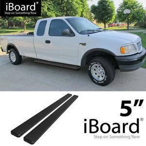 Running Board Side Step 5in Black Fit Ford F150 F250 Light Duty Super Cab 99 03 Ebay