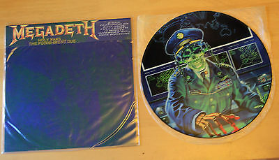EX! MEGADETH HOLY WARS Limited Edition VINYL Picture Pic Disc + BACKING CARD