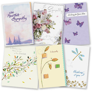 Sympathy greeting card thoughts are with you loss condolences image is loading sympathy greeting card thoughts are with you loss m4hsunfo