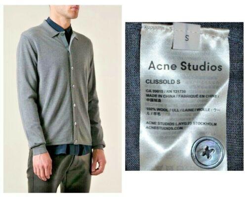 Acne Studios Clissold S Wool Cardigan Knit