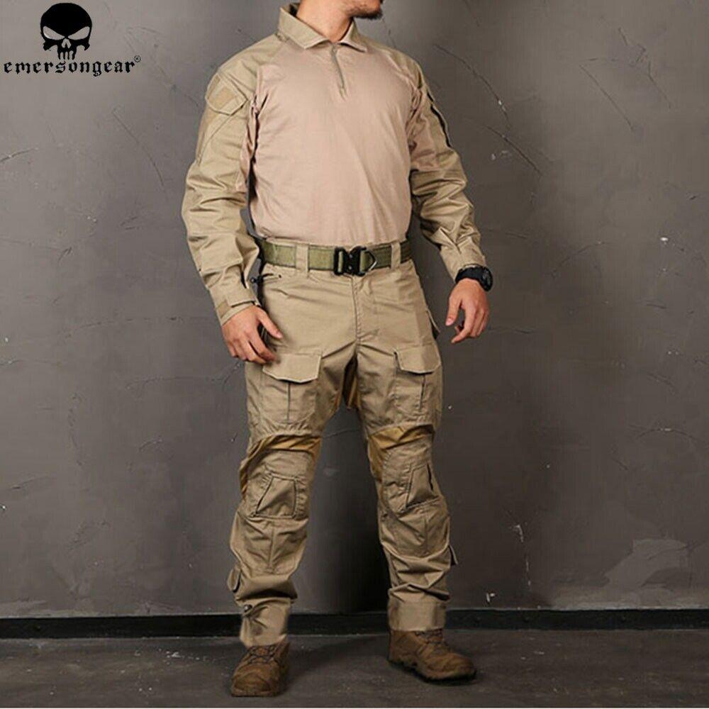 Emerson BDU G3 Combat Uniform Set Shirt Pants Tactical Suit Airsoft GEN3 Kleidung