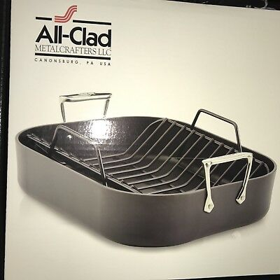 All Clad E87599 Hard Anodized Aluminum Nonstick Base 16x13