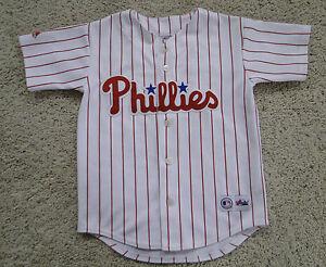 Majestic-Philadelphia-Phillies-Jim-Thome-MLB-Baseball-Sewn-Jersey-Youth-Small