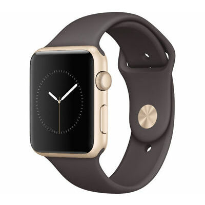 APPLE Watch Series 1 - 42 mm - Dual Core - Gold & Cocoa (Sports Band)