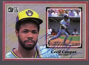 Details About 1984 Donruss Large 19 Cecil Cooper Signed Baseball Card Autographed Brewers