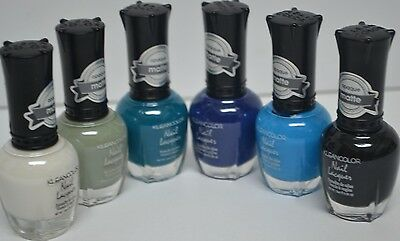 """Kleancolor Nail Polish """"Don't Get Mad, Get Matte"""" Lot of 6 Colors! Lacquer KNP10"""