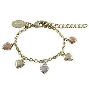 Image Is Loading Gold Plated Tri Color Flat Hearts Toddler S