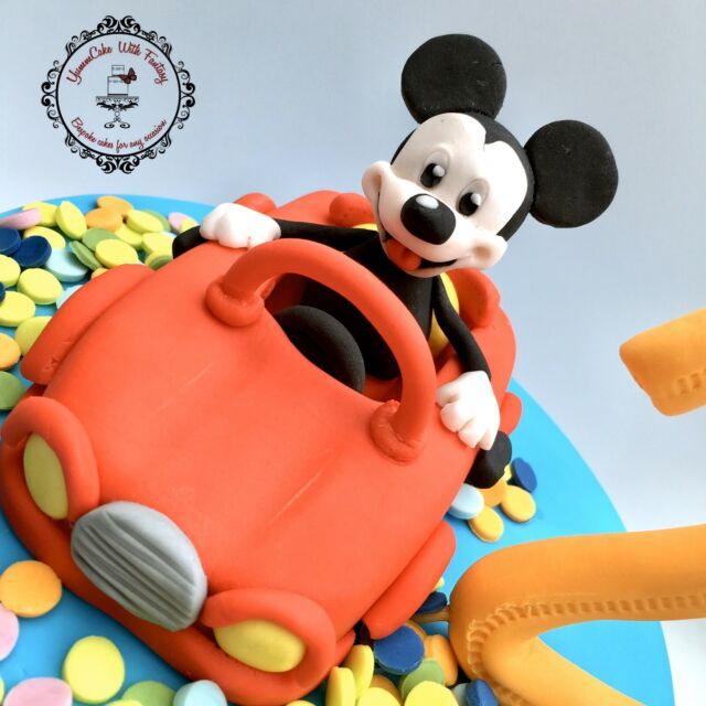 Fantastic Mickey Mouse And Pluto Car Decoset Cake Topper For Sale Ebay Funny Birthday Cards Online Elaedamsfinfo