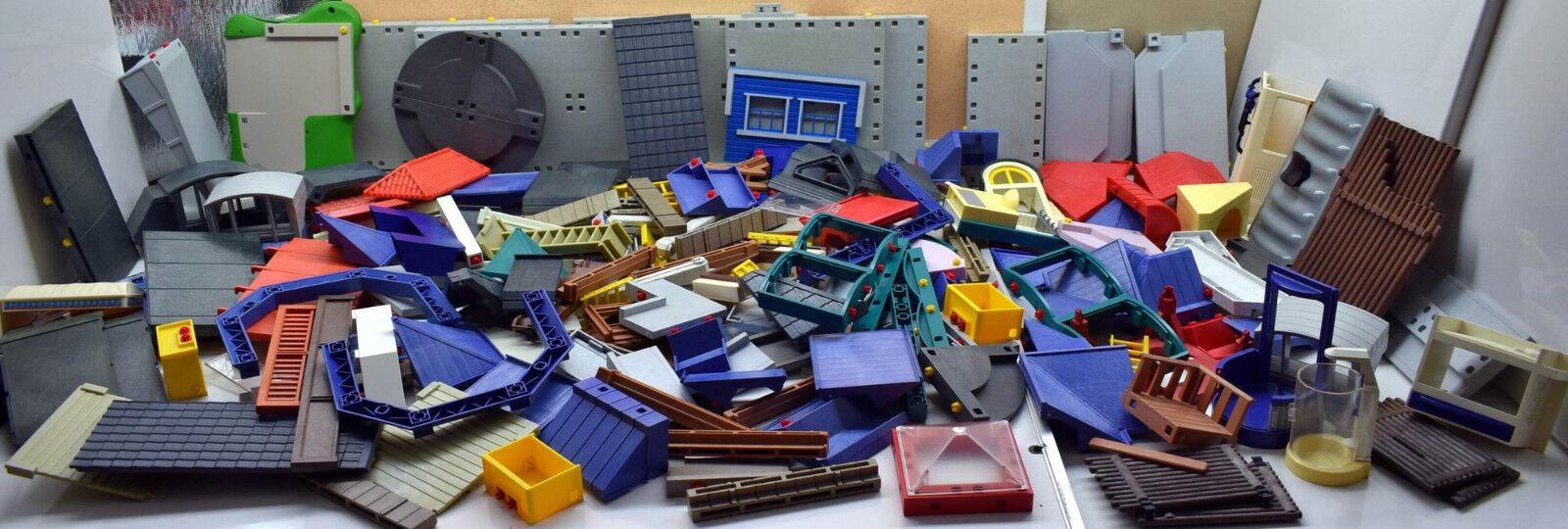 Playmobil Konvolut Ersatzteile über 200 Gebäudeteile Wohnhaus Polizei Supermarkt