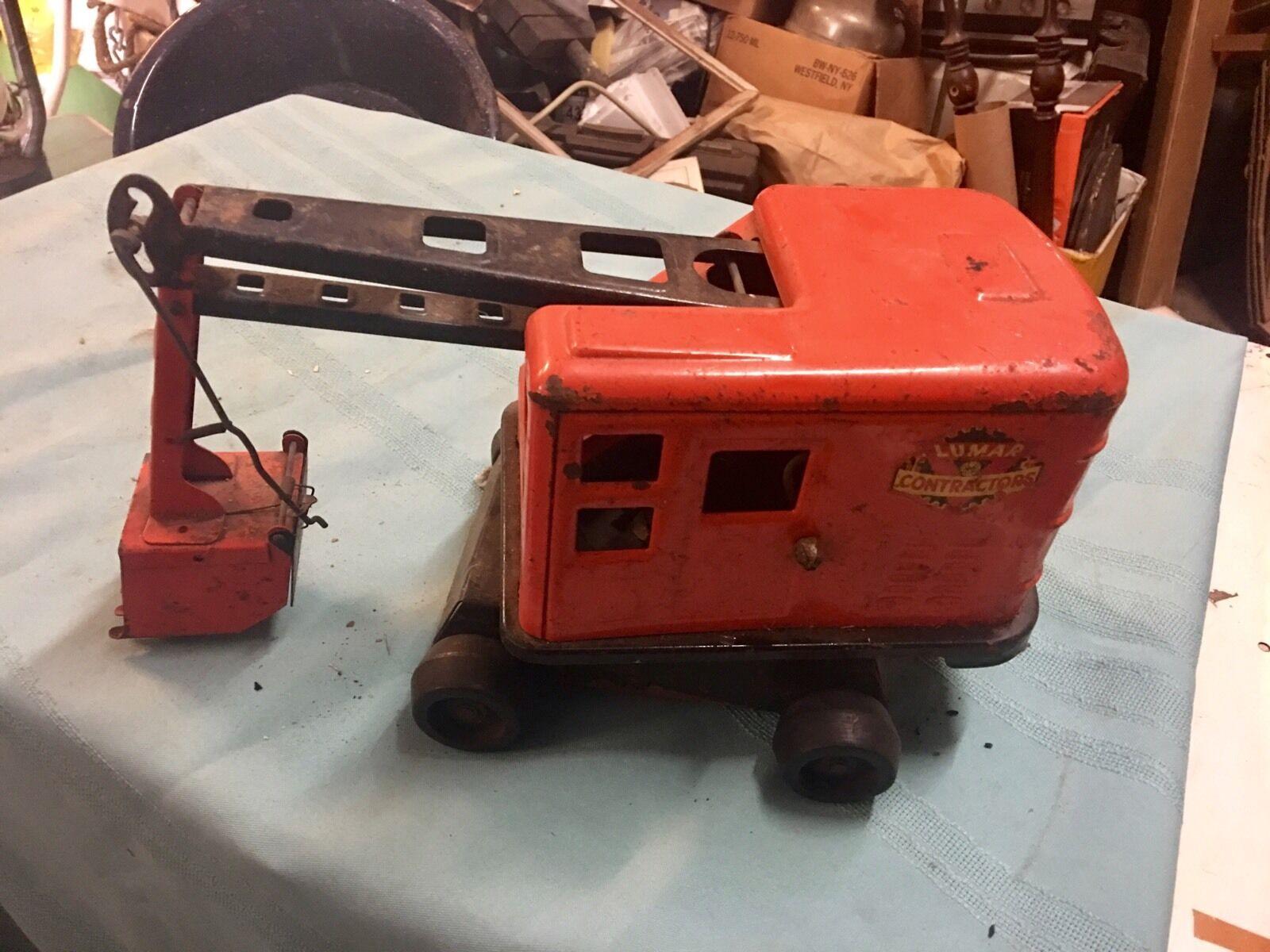 Original OLD Lumar Contractors TOY Shovel Excavator Look  Don't Miss This