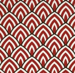 outdoor indoor upholstery art deco red black white fabric