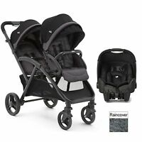 Joie Black Evalite Duo Tandem Gemm Travel System Double Pushchair & Car Seat
