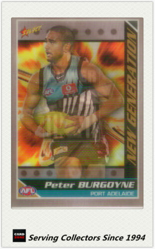 2006 Select AFL Champions New Generation 3D Card NG11 Peter Burgoyne P.Adel