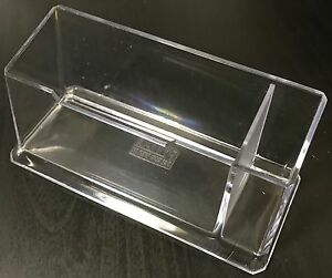 4 X Acrylic Desk Business Name Visiting Card Holders With Pen Holder Stand Ebay