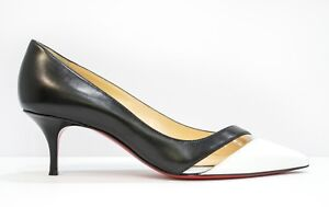 buy popular 7de39 84a46 Details about Christian Louboutin Ladies Black & White Shoe 17th Floor 55  New in Box