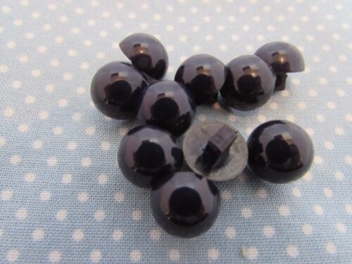14mm Half Ball Buttons in Assorted Colours and Pack Sizes Shank Fastening