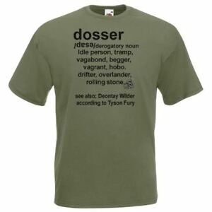 Unisex-Olive-Green-Dosser-Defined-T-Shirt-Shirt-Tyson-Fury-Deontay-Wilder-Boxing