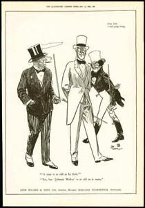 1916  Antique Print ADVERTISING Johnnie Walker Scotch Whisky Men Canes   031 - KENT, United Kingdom - 1916  Antique Print ADVERTISING Johnnie Walker Scotch Whisky Men Canes   031 - KENT, United Kingdom