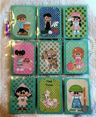 Garden Kids~Pocket Pen Pal Letter Kit //w Protector~#74~judysjemscrafts