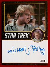 STAR TREK TOS 50th, MICHAEL J POLLARD as Jahn, Autograph Card