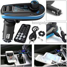 Bluetooth Mp3 Music Player Fm Transmisor Radio Manos Libres Usb Sd Cargador Kit de coche