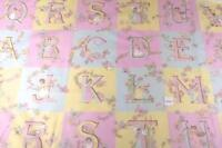 Alphabet Letters, 2 Complete Sets Plus Extra Letters, Cotton Fabric By Concord