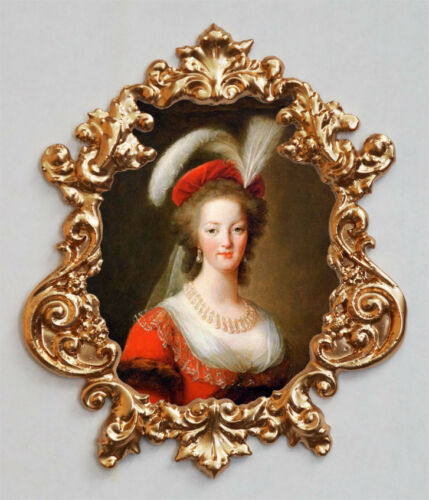 red Marie Antoinette- Applique,Furniture mount//decor,Faux ormolu.