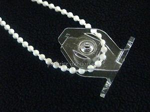 TRASPARENTE-TENDINA-Corda-Guida-due-pezzi-a-prova-di-bambino-clip-per-perline