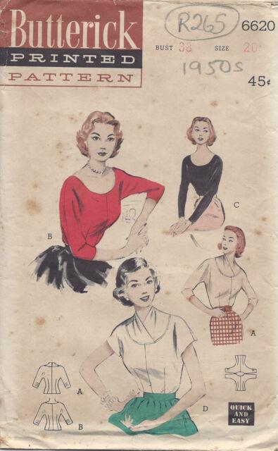 Schnittmuster 1950er Vintage B38\