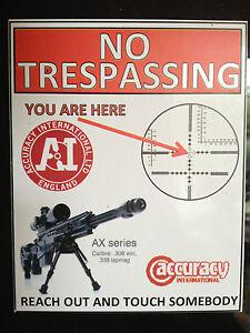 Details about GUN STICKER `NO TRESPASSING, ACCURACY INTERNATIONAL RIFLES  WARNING MAGNET