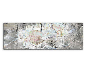 150x50cm Panoramabild Paul Sinus Art Abstrakt Braun Grun Grau Weiss