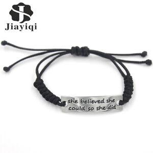 JYQ-Women-Bracelet-Letter-034-she-believed-she-could-so-she-did-034-For-Women-039-s-Gift