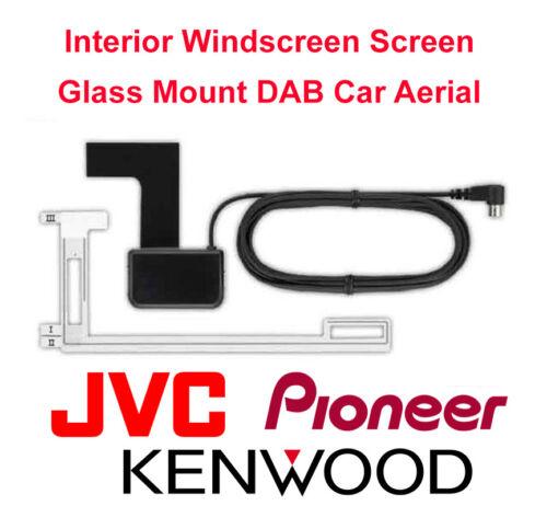 Kenwood Jvc Dab A1 Interior Parabrisas Pantalla Vidrio montaje coche antena Antena Nuevo