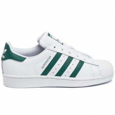Donna Scarpe Trainers Sneakers ADIDAS ORIGINALS SUPERSTAR J EE7821 BIANCO VERDE | eBay