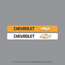 SKU2112-logotipo de distribuidor Chevrolet Número De Matrícula Cubierta Pegatinas - 140mm X 18mm