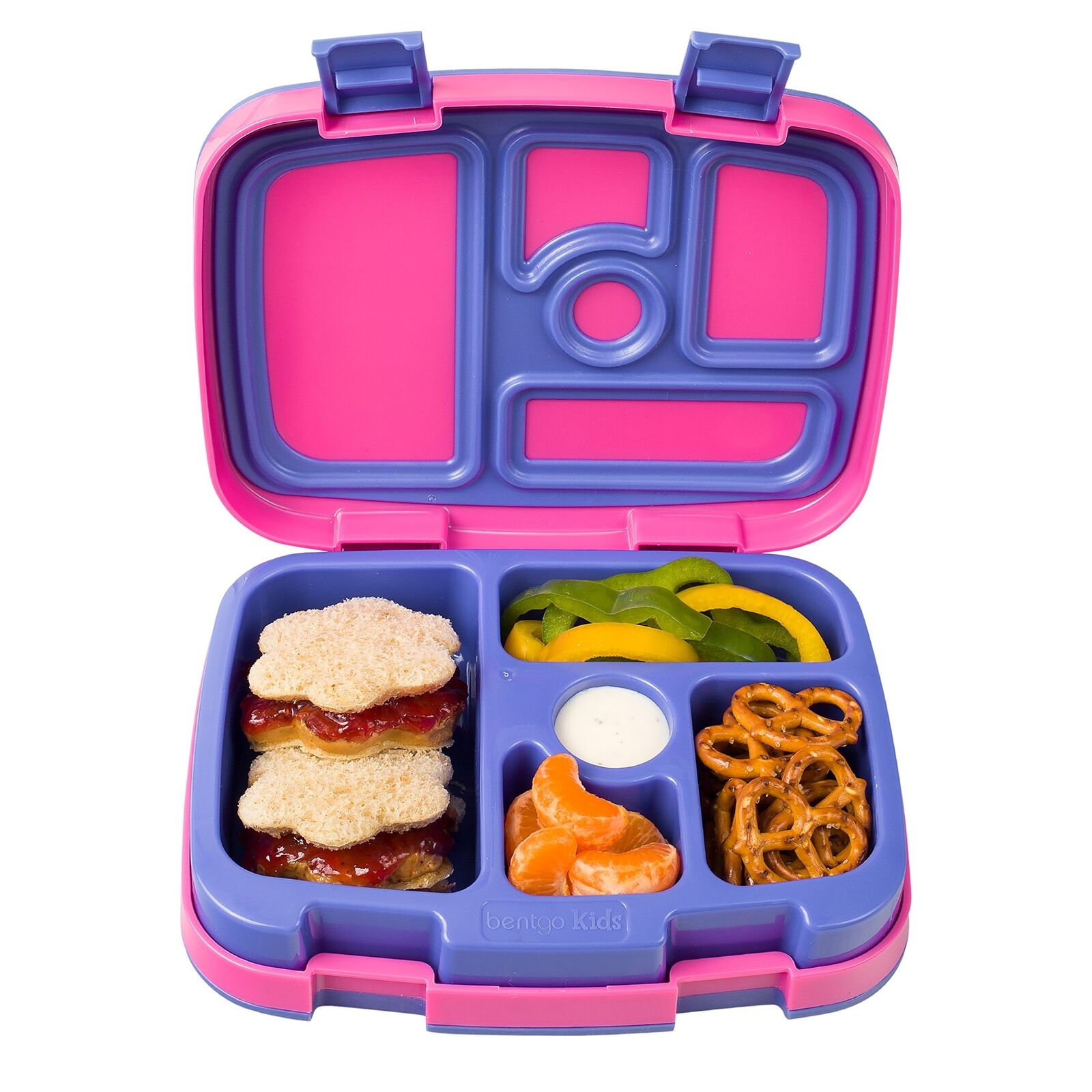 Bentgo Kids Brights – Leak-Proof, 5-Compartment Bento-Style Kids Lunch Box –