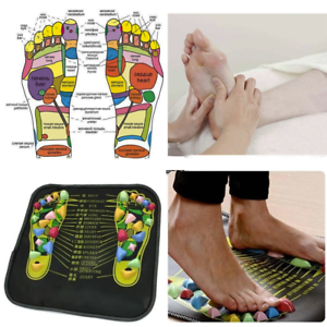 Reflexology Foot Massage Mat Cushioned Acupressure Points Pain Relief - UK Stock