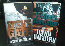 DAVID HAGBERG 2 PB LOT ~ MILITARY THRILLERS ~ CASTRO'S DAUGHTER ~ EDEN'S GATE