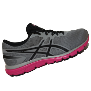 ASICS-WOMENS-Shoes-Gel-Zaraca-5-Aluminum-Black-amp-Hot-Pink-T6G8N-9690