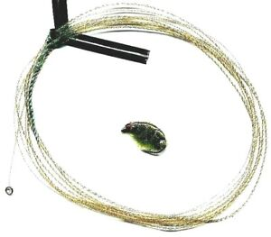 Wonderfurl Moss Green Precision Furled Fly Fishing Leader WITH Tippet Ring